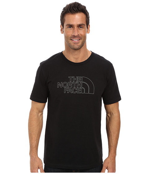 The North Face - S/S Outline Logo Tee (TNF Black) Men's T Shirt