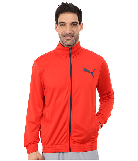 PUMA - Contrast Jacket (High Risk Red/Peacoat) Men's Coat