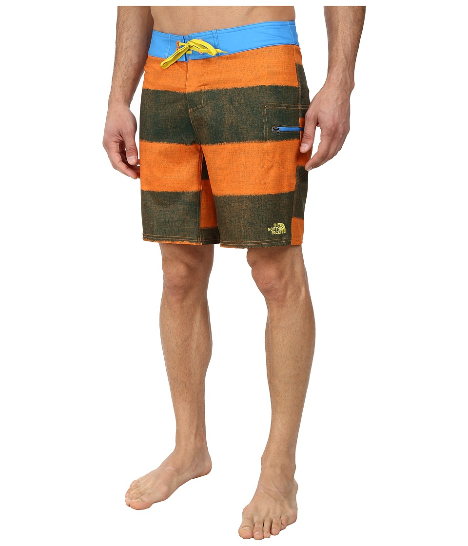 The North Face - Olas Boardshort (Burnished Orange/Clear Lake Blue) Men's Swimwear