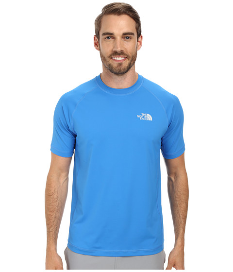The North Face - S/S Class V Shirt (Clear Lake Blue) Men