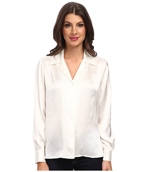 Pendleton - L/S Blouse (Ivory) Women's Long Sleeve Button Up