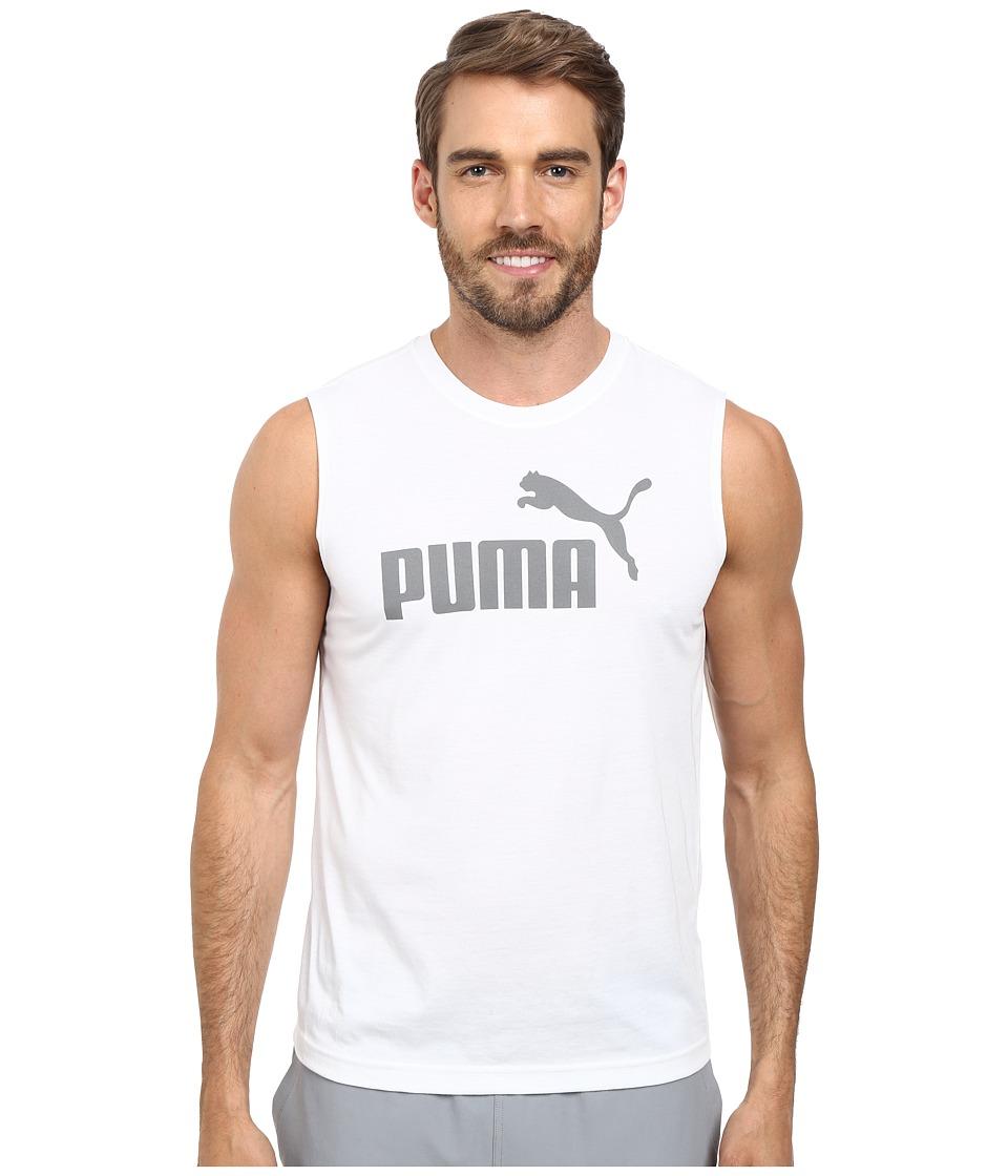 PUMA Essential No. 1 Logo Sleeveless Tee (White) Men