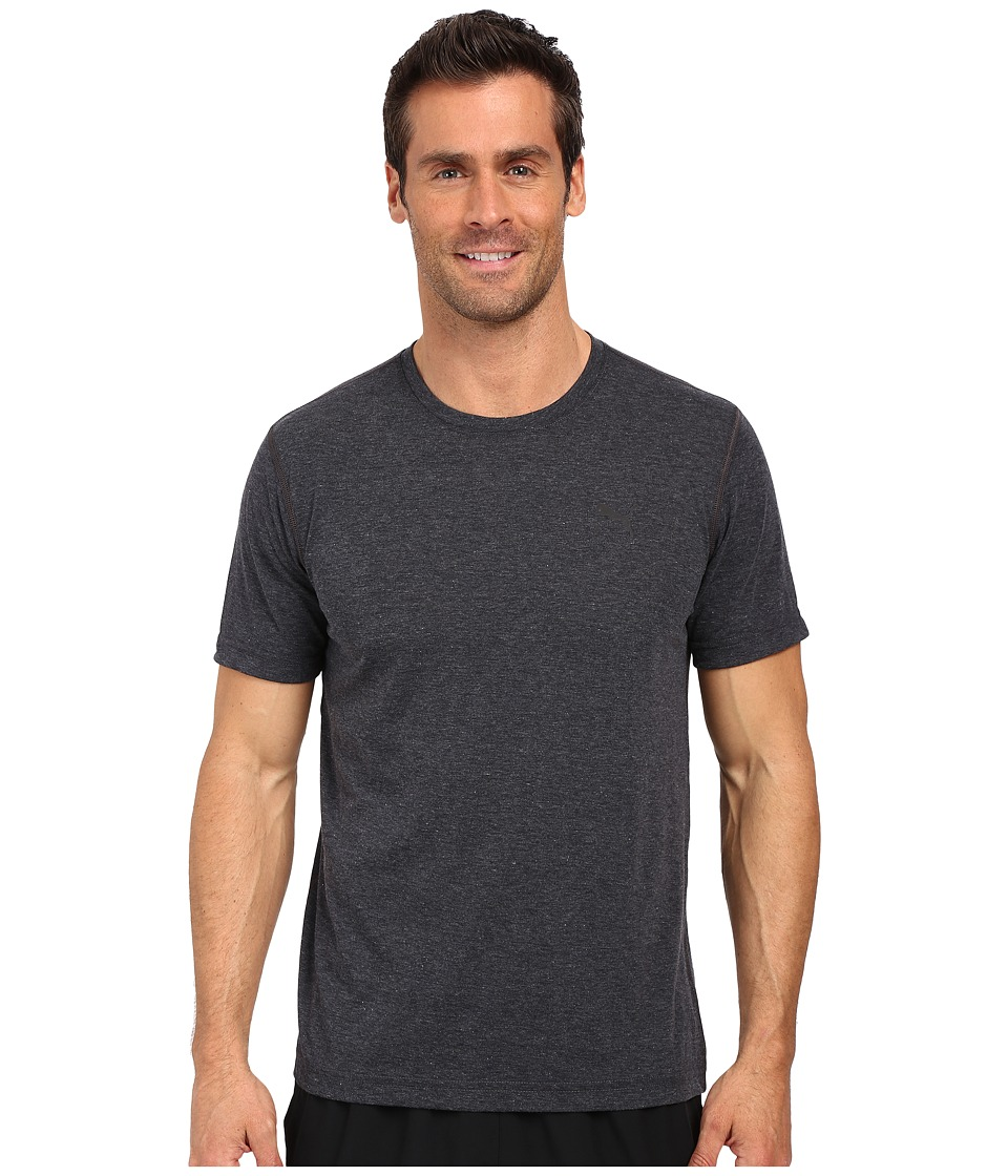 PUMA - Essential Short Sleeve Crew (Dark Gray Heather) Men's Short Sleeve Pullover