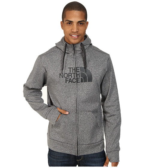 The North Face - Surgent Half Dome Full Zip Hoodie (Heather Grey/Asphalt Grey) Men's Sweatshirt