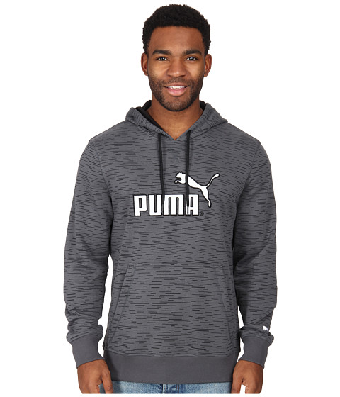 PUMA - No 1 Logo Hoodie (Turbulence/Black Print) Men's Sweatshirt