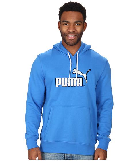 PUMA - No 1 Logo Hoodie (Strong Blue/Gray Violet) Men's Sweatshirt