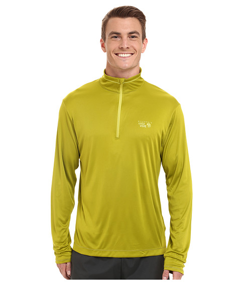 Mountain Hardwear - Wicked L/S Zip Tee (Python Green) Men