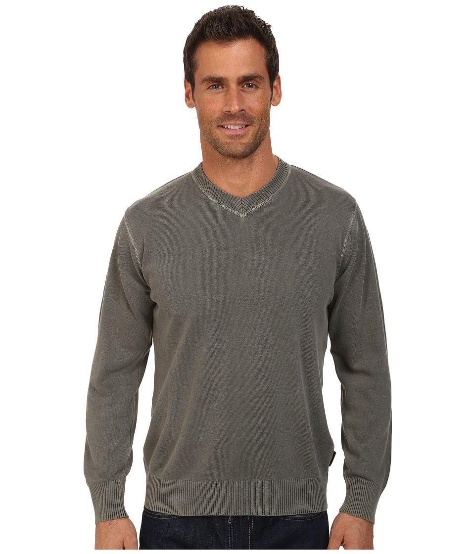 Woolrich - Lightweight First Forks V-Neck Sweater (Quarry) Men's Sweater