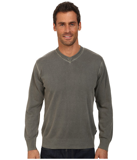 Woolrich - Lightweight First Forks V-Neck Sweater (Quarry) Men