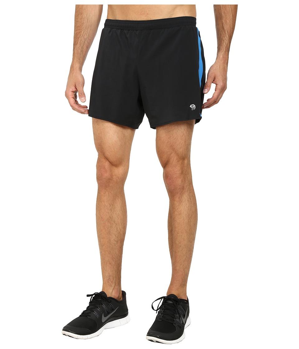 Mountain Hardwear - CoolRunner Short (Black/Hyper Blue) Men's Shorts