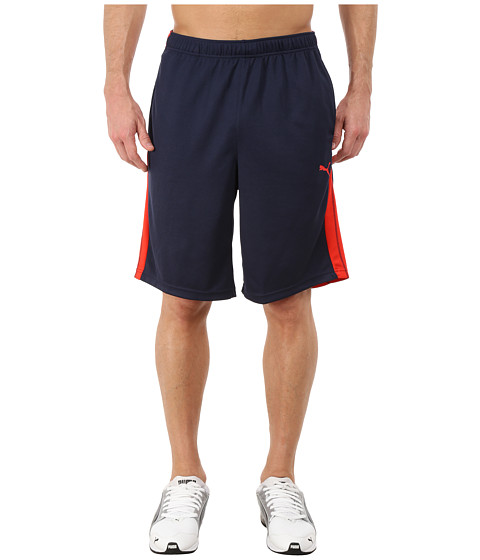 PUMA - Formstripe 10 Short (Peacoat/High Risk Red) Men