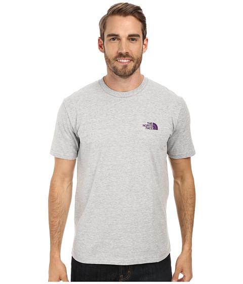The North Face - S/S Heritage Diamond Tee (Heather Grey) Men's T Shirt