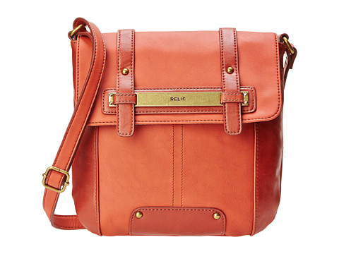 Relic - Perry Flap Crossbody (Orange) Cross Body Handbags
