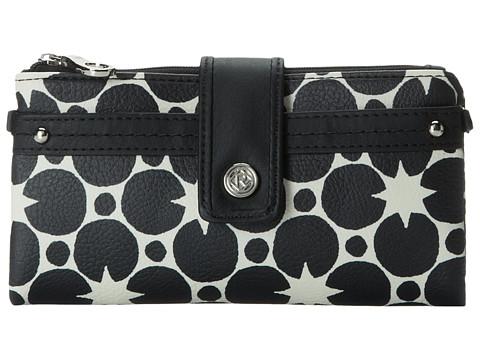 Relic - Vicky Checkbook (White/Black) Clutch Handbags