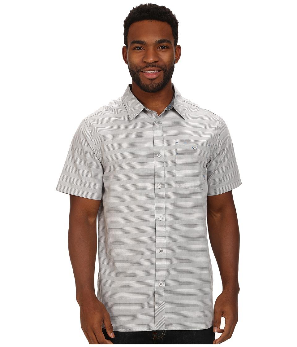 Mountain Hardwear - Kotter Stripe S/S Shirt (Grey Ice) Men's Short Sleeve Button Up