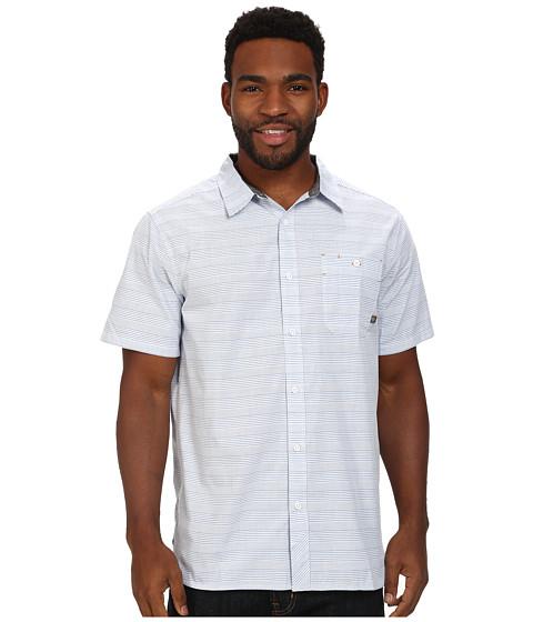 Mountain Hardwear - Kotter Stripe S/S Shirt (Azul) Men's Short Sleeve Button Up