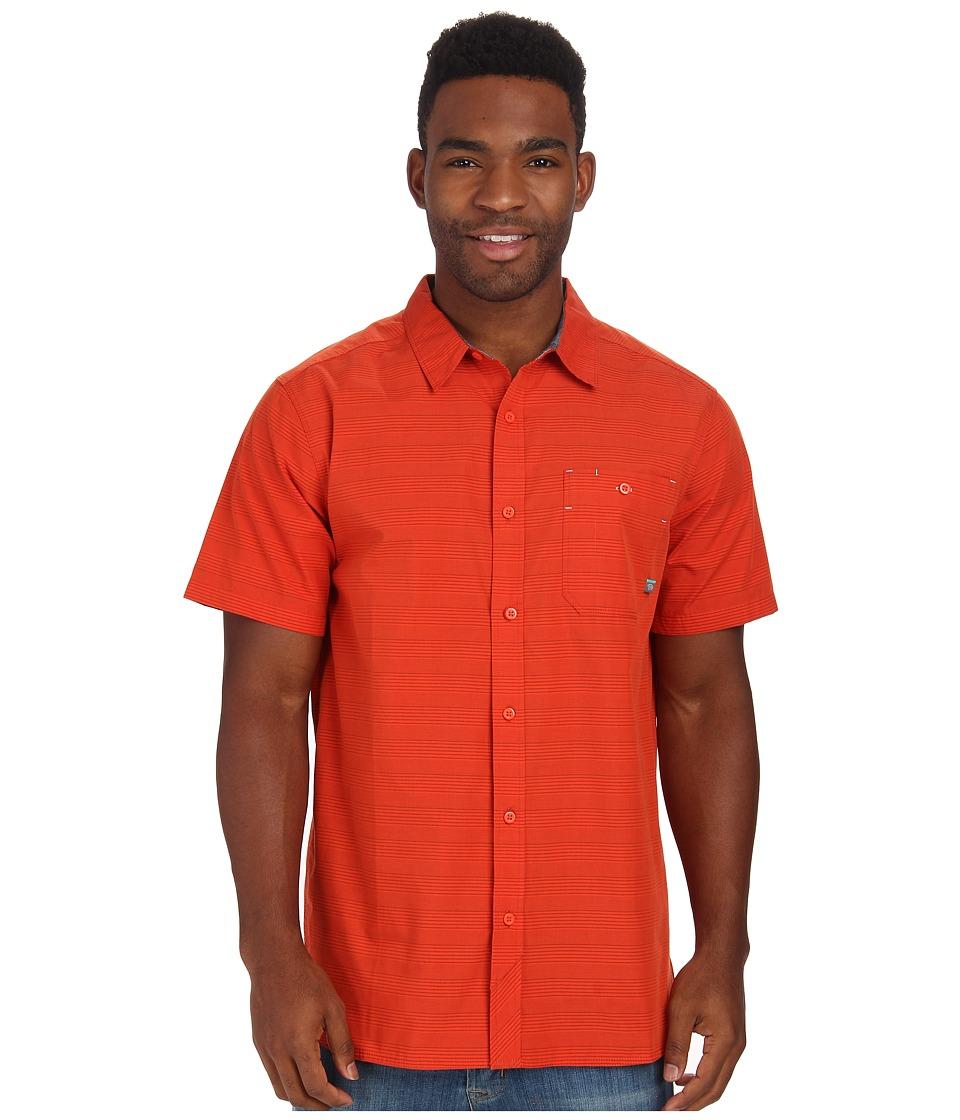 Mountain Hardwear - Kotter Stripe S/S Shirt (State Orange) Men's Short Sleeve Button Up