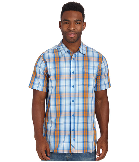 Mountain Hardwear - Multen S/S Shirt (Blue Jay) Men's Short Sleeve Button Up