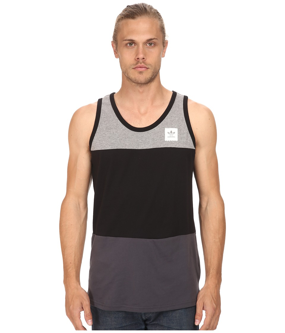 adidas Skateboarding - Bared 3 Tank (Black/Core Heather/Solid Grey) Men's Sleeveless