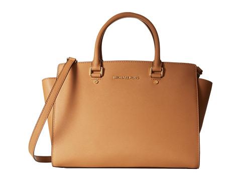 MICHAEL Michael Kors Selma (Suntan) Satchel Handbags