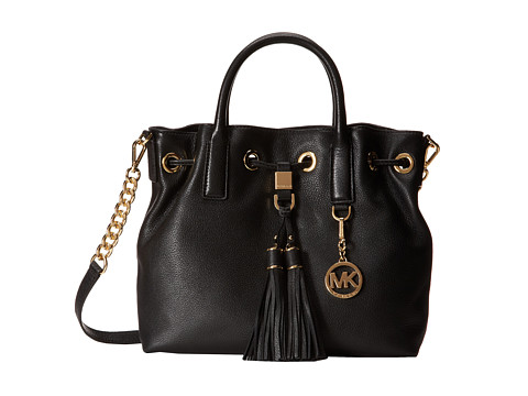 MICHAEL Michael Kors - Camden Medium Drawstring Satchel (Black) Satchel Handbags