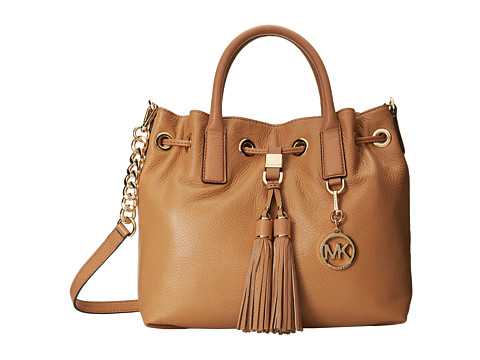 MICHAEL Michael Kors - Camden Medium Drawstring Satchel (Suntan) Satchel Handbags