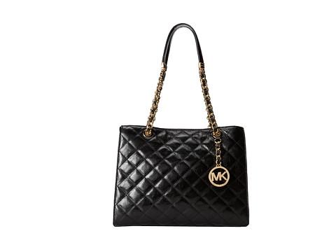 MICHAEL Michael Kors Susannah Medium Tote (Black) Tote Handbags
