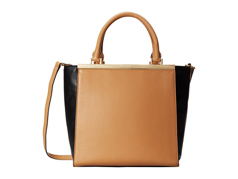 MICHAEL Michael Kors - Lana Medium Tote (Suntan/Black) Tote Handbags