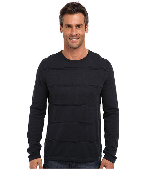 Calvin Klein - Cotton Modal Ottoman Sweater (Officer Navy) Men