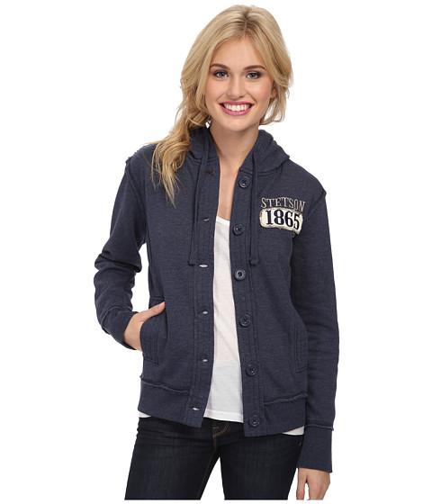 Stetson - 82038 Button Front Fleece w/ Knit Lining Jacket (Blue) Women