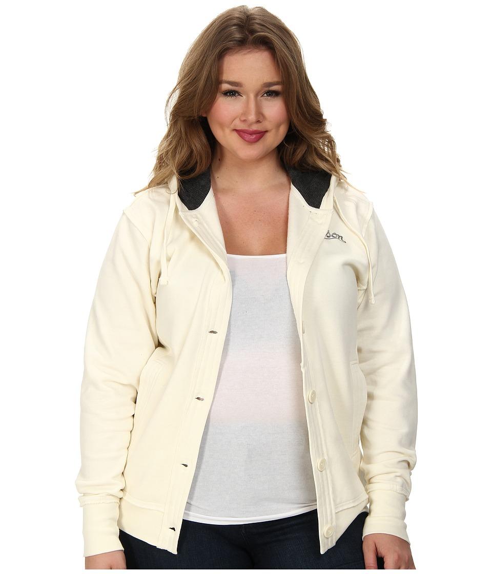 Stetson - Plus Size 82038 Button Front Fleece w/ Knit Lining Jacket (White) Women