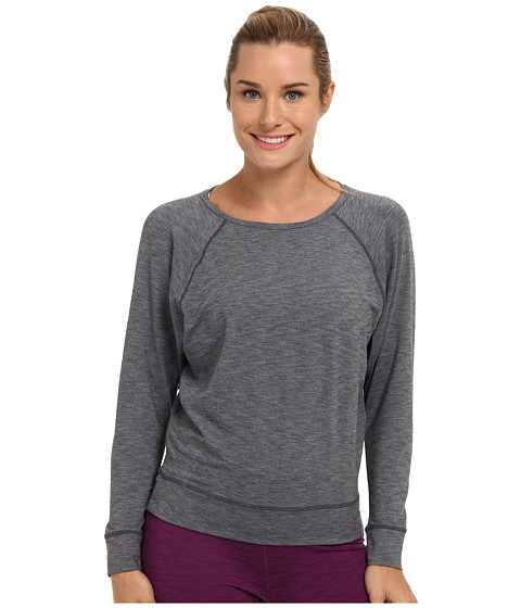 COZY ORANGE - Selene Long Sleeve Top (Heather Charcoal) Women's Long Sleeve Pullover