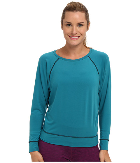 COZY ORANGE - Selene Long Sleeve Top (Ocean Blue) Women's Long Sleeve Pullover