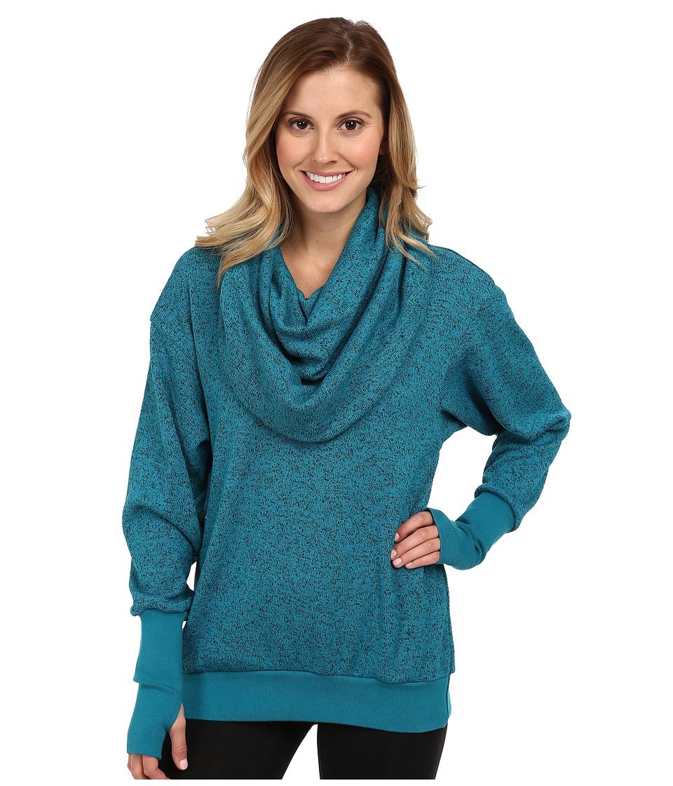 COZY ORANGE - Phoebe Pullover (Heather Ocean Blue/Ocean Blue) Women's Sweater