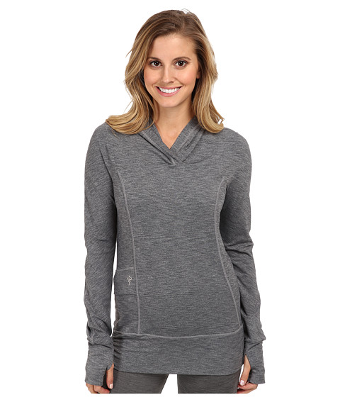 COZY ORANGE - Devi Hoodie (Heather Charcoal) Women's Long Sleeve Pullover
