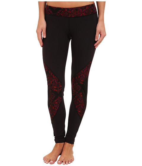 COZY ORANGE - Diana Fitted Pants (Raven Black/Henna Red/Berry) Women's Workout