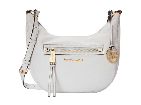 MICHAEL Michael Kors - Rhea Zip Small Messenger (Optic White) Messenger Bags