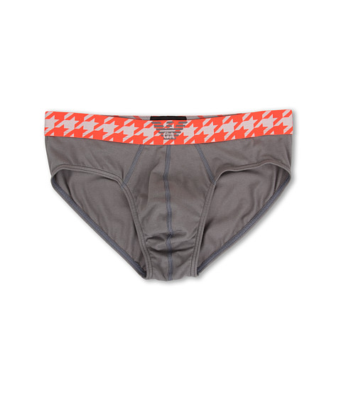 Emporio Armani - Houndstooth Band Brief (Ash Grey) Men