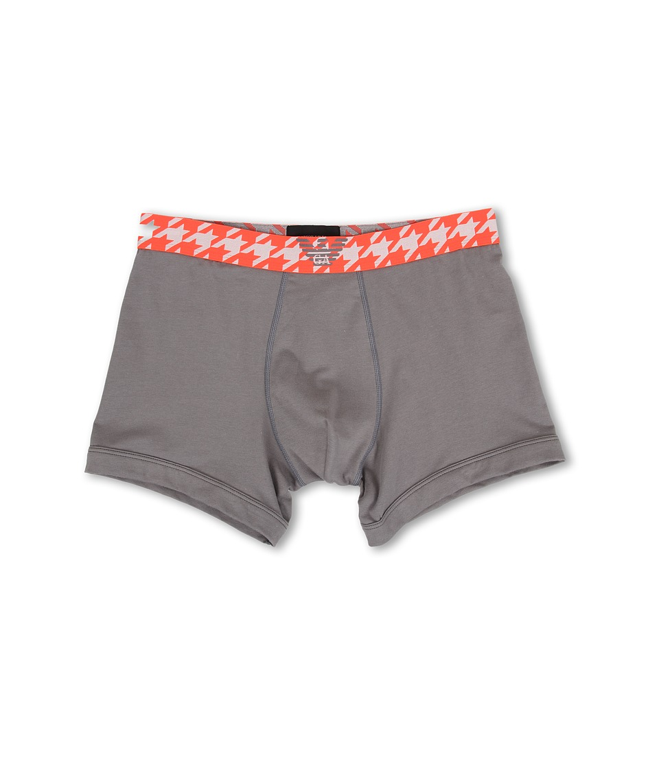 Emporio Armani - Houndstooth Band Boxer Brief (Ash Grey) Men
