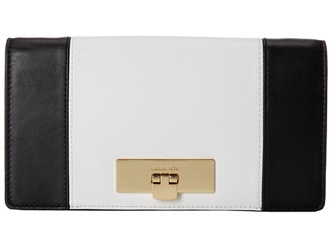 MICHAEL Michael Kors - Callie Clutch (Black/White) Clutch Handbags