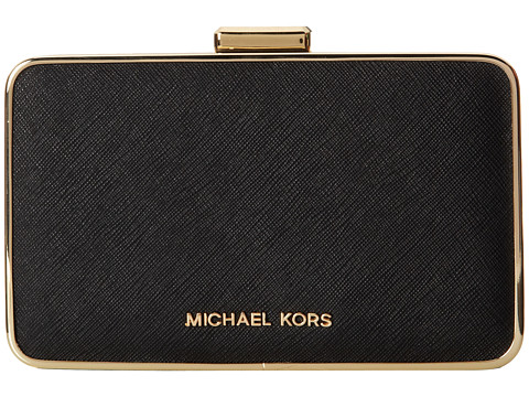 MICHAEL Michael Kors - Elsie Box Clutch (Black) Clutch Handbags