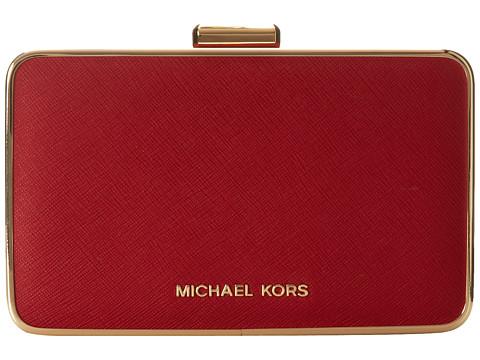 MICHAEL Michael Kors - Elsie Box Clutch (Red) Clutch Handbags