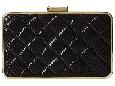 MICHAEL Michael Kors - Elsie Quilted Box Clutch (Black) Clutch Handbags