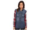 Seven7 Jeans - Plaid/Denim Mixed Shirt (Blue Note) - Apparel