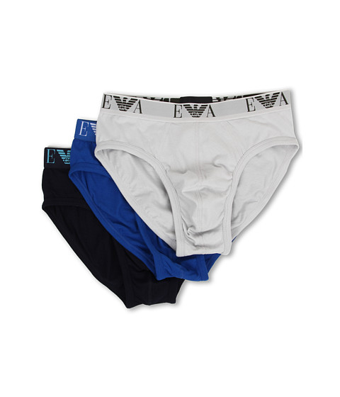 Emporio Armani - 3-Pack Jersey Cotton Brief (Pearl/Blue/Marine) Men's Underwear