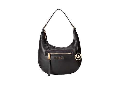 MICHAEL Michael Kors - Rhea Zip Medium Zip Shoulder (Black) Shoulder Handbags