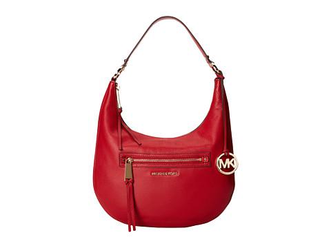 MICHAEL Michael Kors Rhea Zip Medium Zip Shoulder (Red) Shoulder Handbags