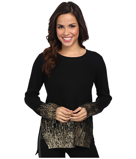 Kenneth Cole New York - Hallie Sweater (Black/Gold) Women