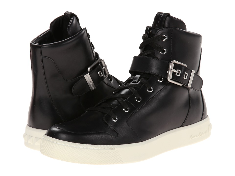 Pierre Balmain - Buckle Hi-Top Sneaker (Black) Men