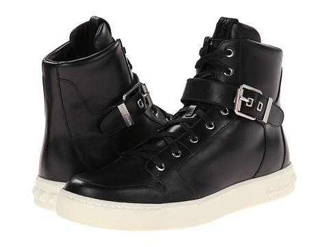 Pierre Balmain - Buckle Hi-Top Sneaker (Black) Men